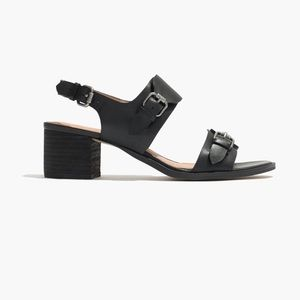 Madewell Size 8 Black Buckled Sandals